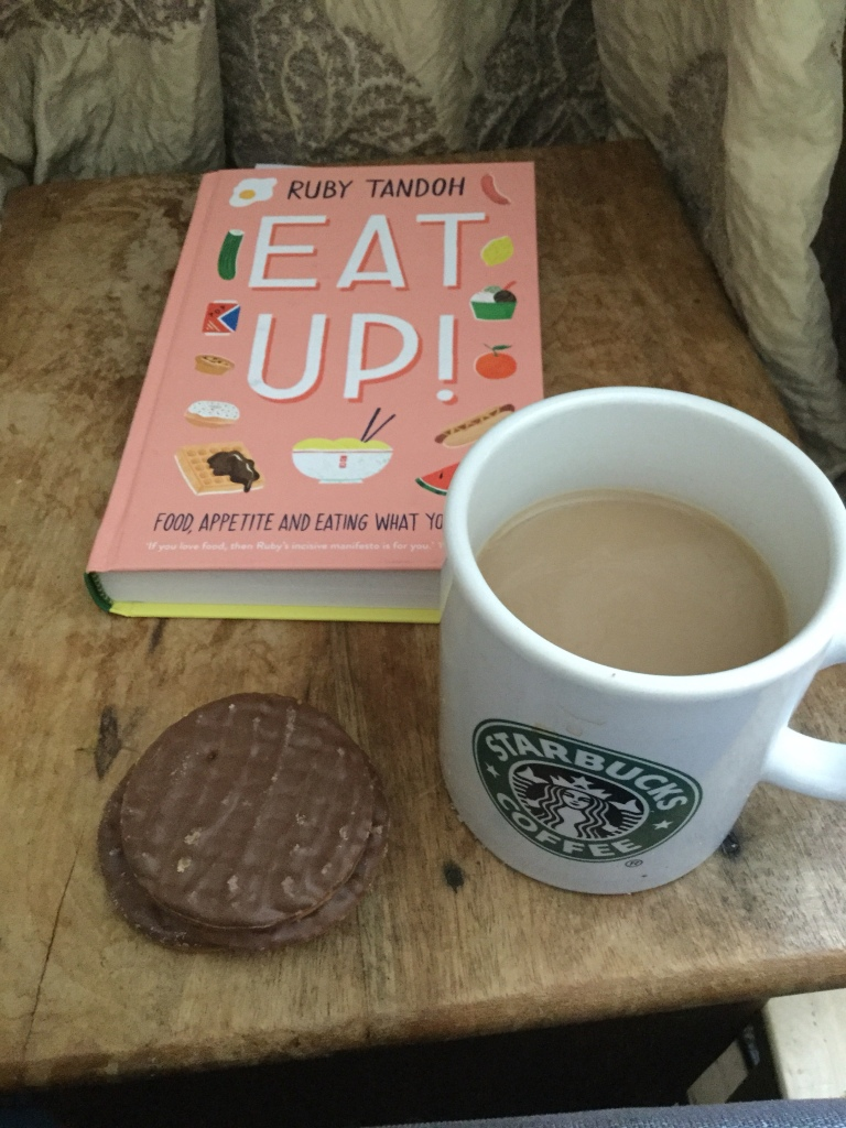 Coffee, biscuits and a book
